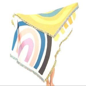 NEW Colorful Rainbow Stripes Throw Blanket